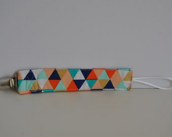 Colorful Triangles Pacifier Clip