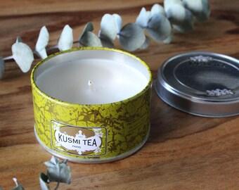 Kusmi tea candle // Almond Green Tea // Parisian // travel candle //  small size  // low scent