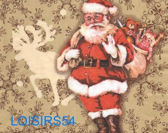 Towel Santa Claus paper toys - 33 cm x 33 cm