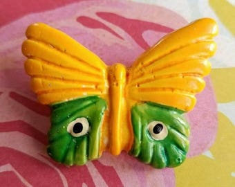 Cheerful bright butterfly brooch insect bug pin
