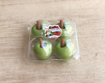 Miniature Apples in Plastic Pack,Miniature Apples,Dollhouse Apple,Miniature Fruit,Miniature Plastic Pack,Dollhouse fruit,Green Apple