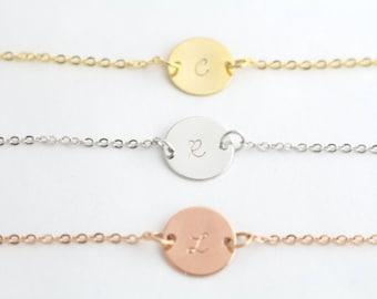 Initial Bracelet - Personalized Bracelet - Custom Bracelet - Bridesmaid Bracelet - Rose Gold Bracelet - Silver Bracelet - Gold Bracelet
