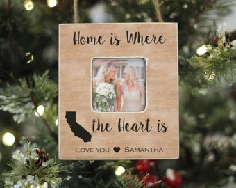 Mom Christmas Ornament 'Home is Where the Heart Is' from Daughter Son Personalized Christmas GIFT