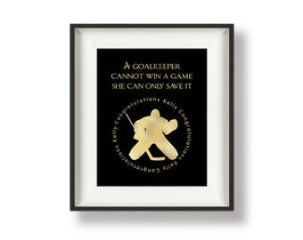 Hockey Gifts - Hockey Decor - Hockey Goalie - Girls Hockey Gift - Hockey Wall Art - Ice Hockey Girl - Hockey Wall Print - 8 x 10 - Save It