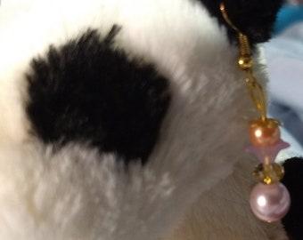 Soft Pinks dangle earrings