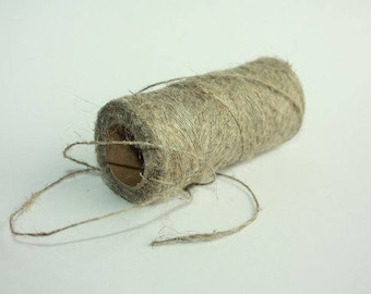 1.5 mm Linen Yarn - 1 Spool = 110 Yards = 100 Meters of Natural Linen - Natural Color - Rustic Weddings - Wild Macrame