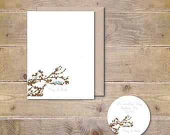 Love Birds Wedding Thank You Cards, Love Bird,  Thank You Cards,  Bridal Shower Thank You Cards, Affordable Weddings, Rustic Wedding Cards