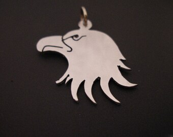 sterling silver american eagle pendant 45mm handmade 925