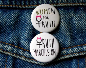 Women for Truth March Pin, March for Truth Button