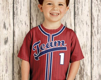 Personalized Baseball Jersey T-Shirt, Baseball Birthday Shirt - Any Color - Any Name