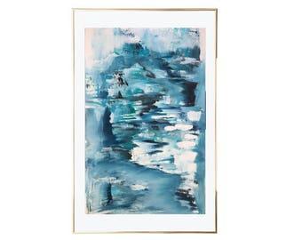 Original Abstract Painting Modern Art Blue Neutral Wall Art Large Canvas Art Abstract Living Room Painting Large Artwork Modern Art
