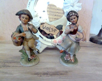2 characters cookies man and woman Vintage
