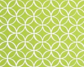 Green Fabric - Michael Miller Tile Pile Fabric - Green Geometric Fabric