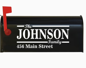 Custom Personalized Vinyl Mailbox Decal #9 - SET OF 2 - 16 Colors To Choose From!