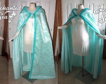 Ready to Ship - Minty Pastel Aqua Cloak - Inspired by Christine Daae's Rooftop Cloak!
