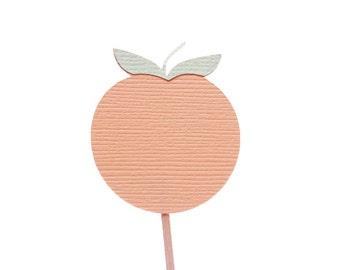 Georgia Peach Cupcake Toppers / Appetizer Picks / Food Picks