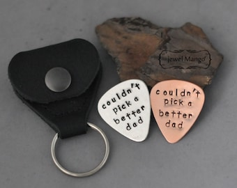 Guitar Pick with case, Hand Stamped Personalized Guitar Pick with case, custom Guitar Pick, gift for dad, Graduation, boy friend
