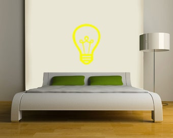 Light bulb Wall DECAL- interior design, sticker art, room, home and business decor