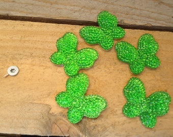 Set of butterfly green craft 3 cm * 2.5 cm
