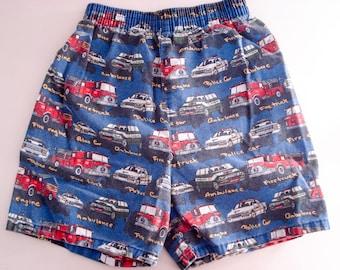 Cutest summer shorts - Garanimals - emergency vehicles - kids size 7