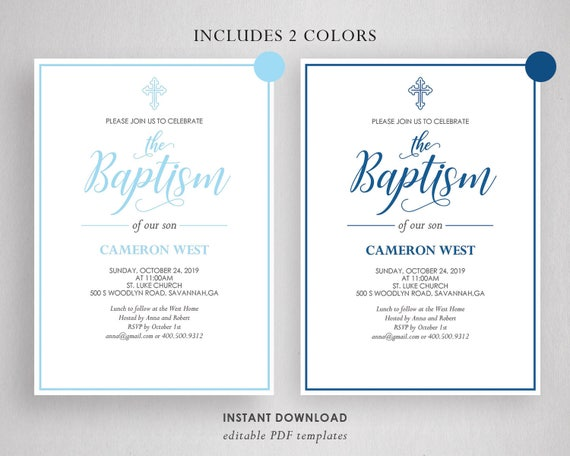 diy baptism invitations