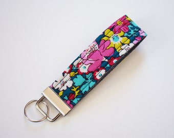 Fabric Key Fob - Liberty Floral Bloomsbury Gardens