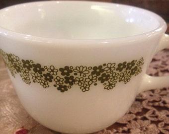AVOCADO GREEN  Pyrex teacup