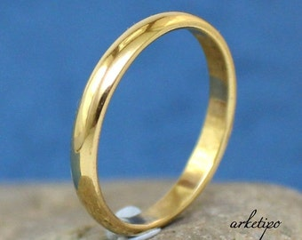 Gold - Brass Ring / Band.. Wedding Ring - Engagement Ring...