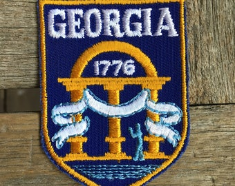 Georgia 1776 Vintage Souvenir Travel Patch from Voyager