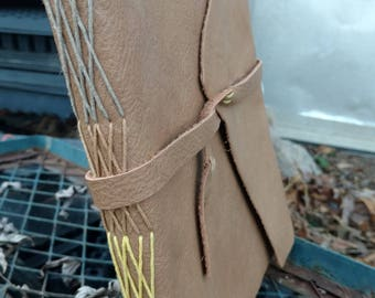Extra Large Leather Journal, Leather Journal, Extra Large Journal, Hand-Dyed Hemp, Hand-Bound Book