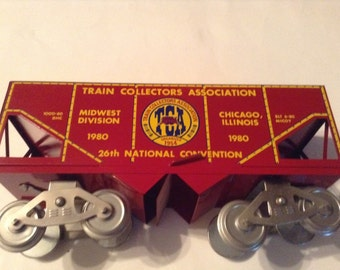 mccoy's wide guage train 26th national convention train chicago illinois 1980