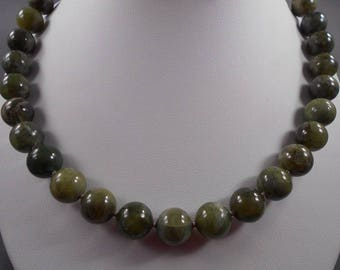 Green Garnet Necklace and Earring Set
