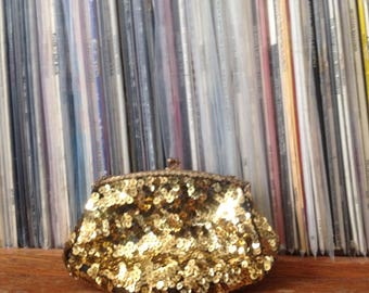 Vintage Gold Sequin Purse | Made in France