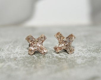 Imitation Druzy Kiss Stud Earrings