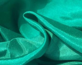 Jade Green High Sheen Fabric - 44 Inches Wide
