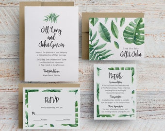 greenery wedding invitations, wedding invitations with greenery, watercolor greenery wedding invitations, wedding save the dates, invites
