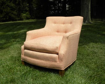 SALE NOW 295.00    Vintage upholstered lounge reading accent chair