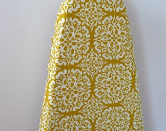 Ironing Board Cover - mustard and off white decor mediterranean tile