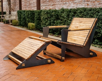 Adirondack Chair with Footrest DIY Kit