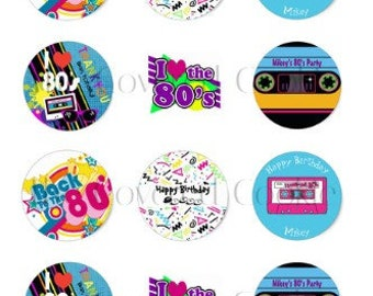 80's Birthday Party-Themed Chocolate Covered Cookies, Custom Treats for all Occasions