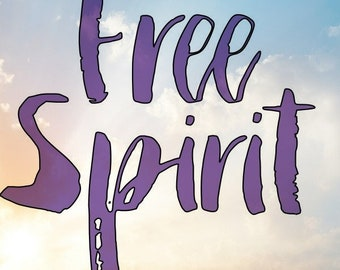 Free Spirit decal, Free Spirit Boho Vinyl Window Decal,Free spirit car decal, Laptop sticker, Free spirit car decal, Boho car decal