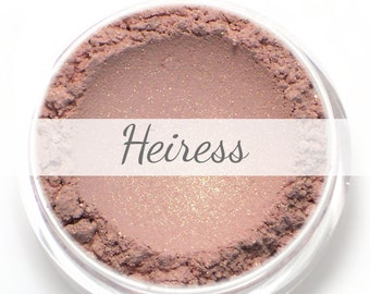 "Eyeshadow Sample - ""Heiress"" - pale pink with gold shimmer - Vegan Mineral Makeup"