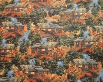 Lakehouse Cottages-Quilting Treasures-BTY