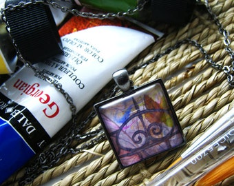 Pendant Necklace - As It Comes ... - By Mixed Media Artist Malinda Prudhomme