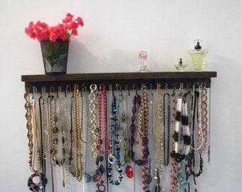 Necklace Organizer Storage, Original Designer, Large 47 Hooks