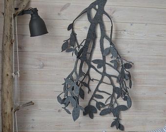 Fantastic grey felt branch