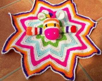 Zebra baby comfort blanket / new baby gift / cuddly toy / baby shower