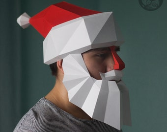 Santa Claus Low Poly Mask Download PDF