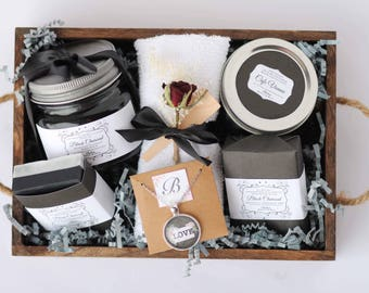 Black Charcoal Bath and Body Detoxifying Gift set. Gift for her or him.