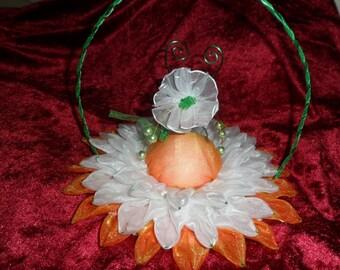 cushion alliance wedding white and orange flower customizable